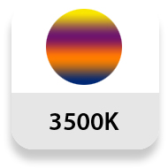 Temperatura de color: 3500K