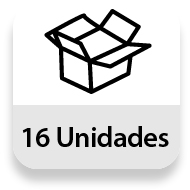 Embalaje completo: 16 unidades