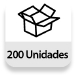 Embalaje completo: 200 unidades