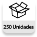 Embalaje completo: 250 unidades