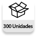 Embalaje completo: 300 unidades