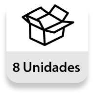 Embalaje completo: 8 unidades