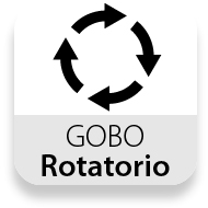 Gobo rotatorio