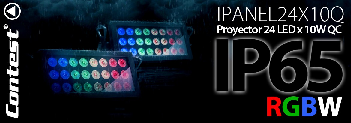 CONTEST IPANEL24X10QC PROYECTOR 24 LED X 10W QC IP65