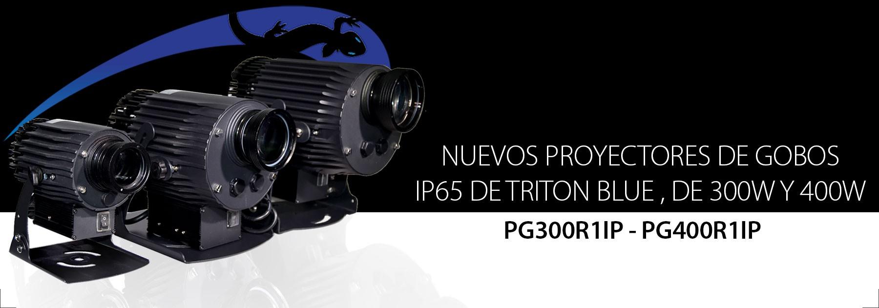 Nuevos proyectores de gobos de Triton Blue en 300W y 400W