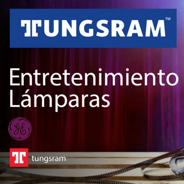 Lámparas TUNSGSRAM, GE Lighting y SHOWBIZ